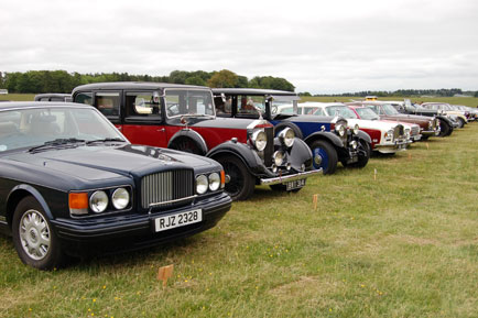 Pukka line up of Rolls and Bentleys