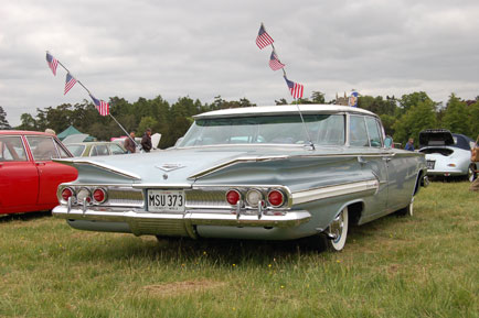 Very shiny 1960 Chevy Impala (aren't they all?)
