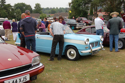 Nice busy show - lots of cars and lots of spectators