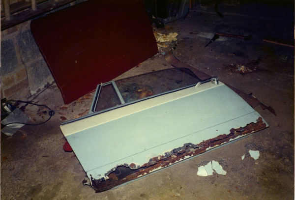 Triumph herald Vitesse door repair