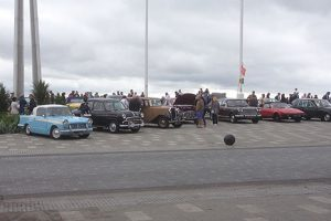 Lined up on the seafront...