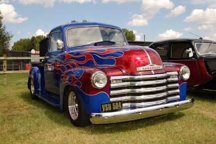 Nice set of flames on this Yankee Chevy