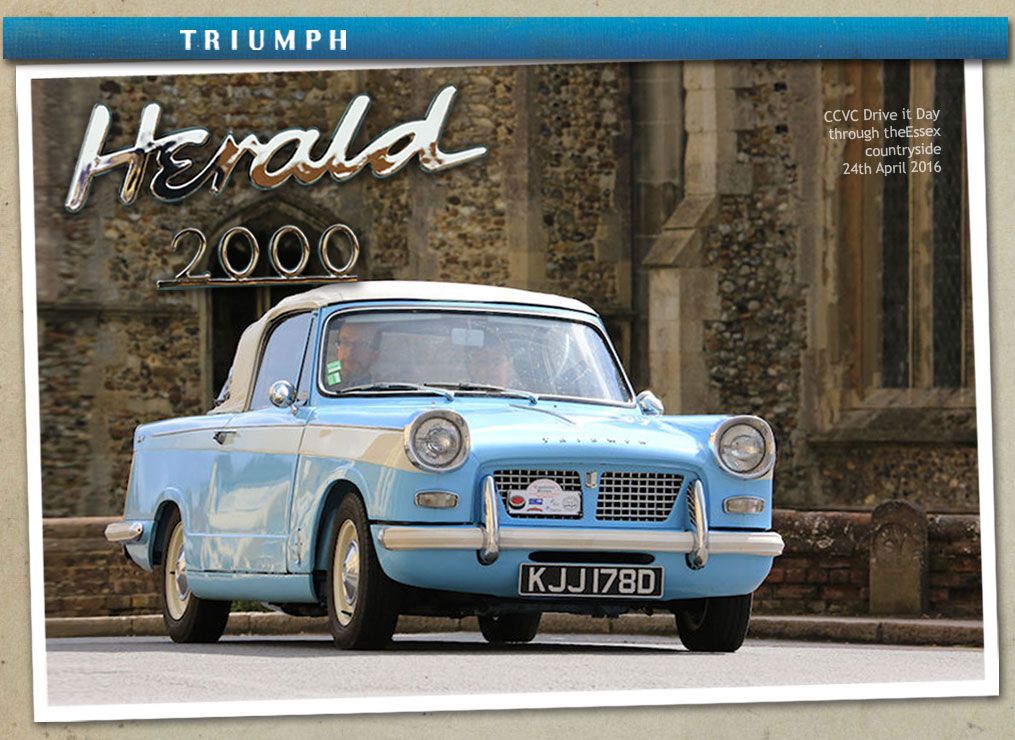 Triumph Herald 2000 and Viking Fibreline Caravan