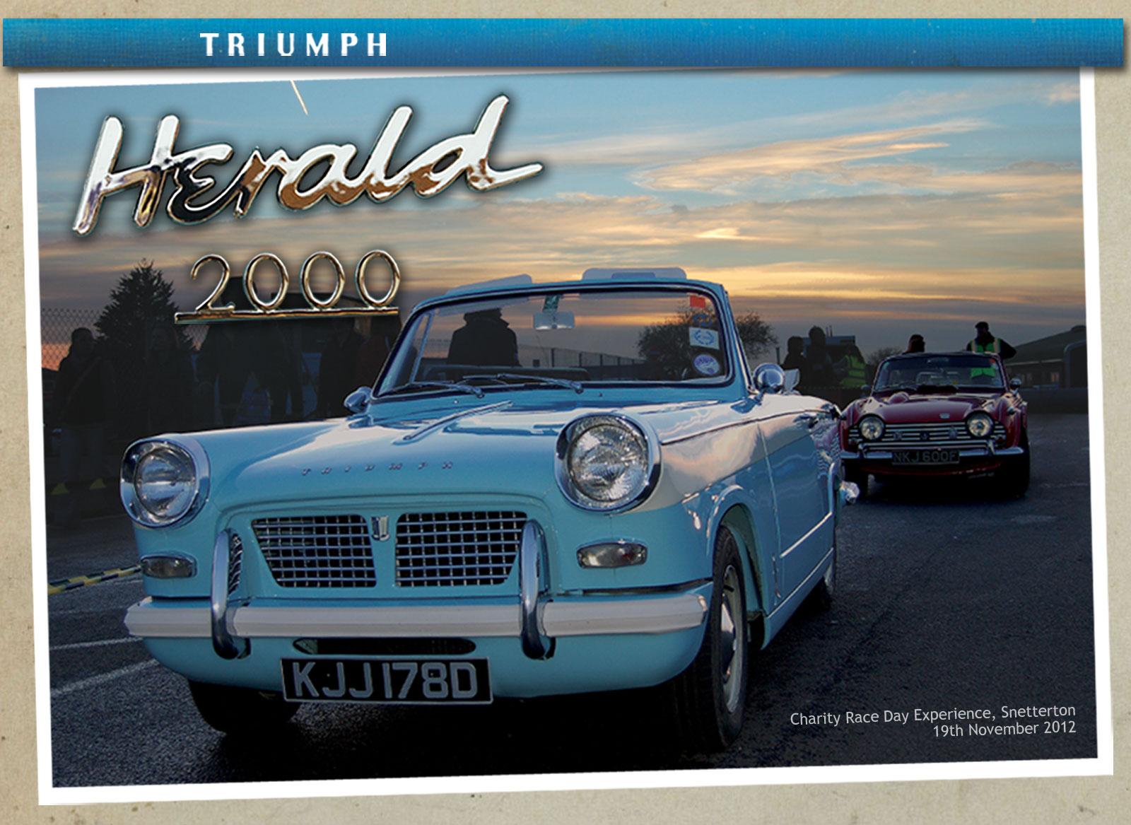 Triumph Herald 2000 and Viking Fibreline Caravan