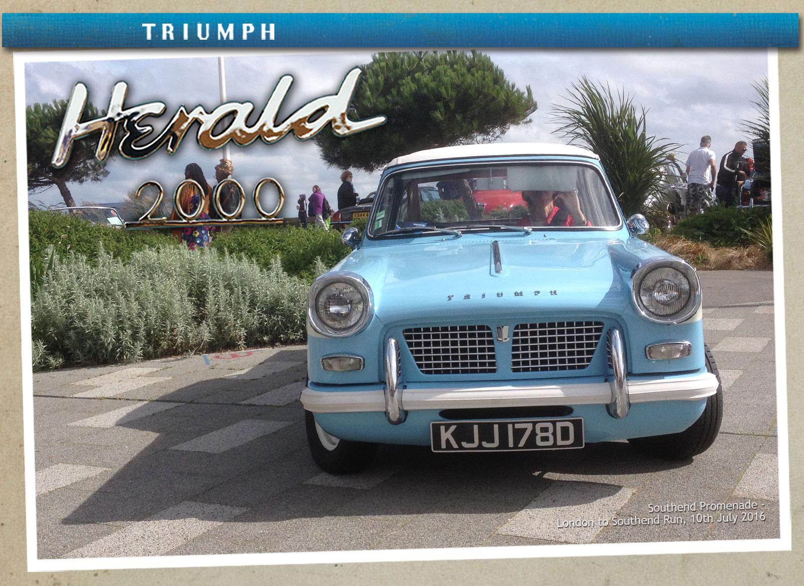Paul's homage to his Triumph Herald 2000 and Viking Fibreline Caravan