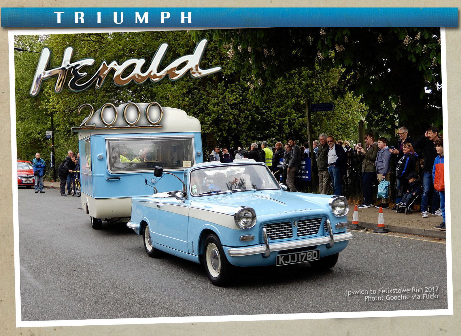 Paul's homage to his Triumph Herald 2000 and Viking Fibreline Caravan