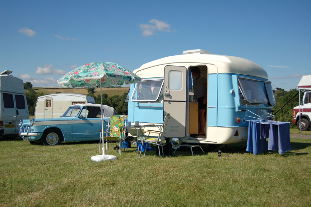 Retro Caravan Club rally Banbury