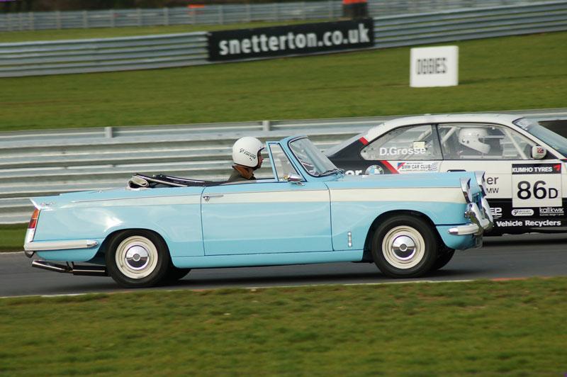 Triumph Herald at Snetterton, Norfolk