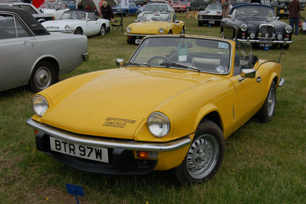 Double Yellow Triumph Spitfire