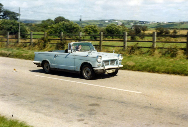 Oldest photo of Triumph Herald on way down to Cornwall