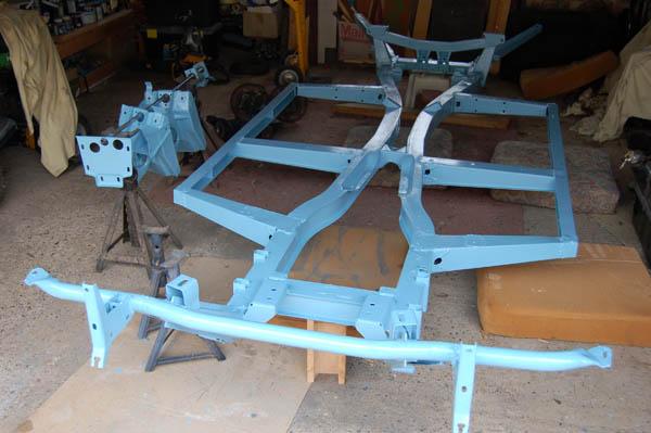 Rebuild Triumph Herald chassis