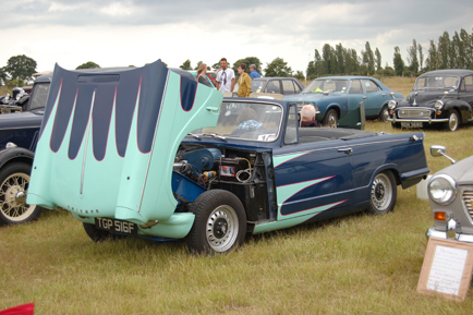 Triumph Herald with Flames