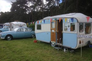 Interesting display of classic caravans