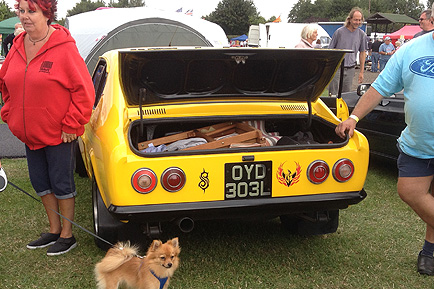 Rear end of modified Capri spotted at Heveningham