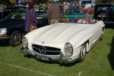 Merc 300SL (roadster version of the gull-wing