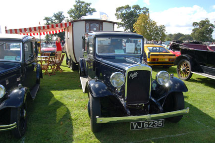 Austin Seven with a very nice classic caravan