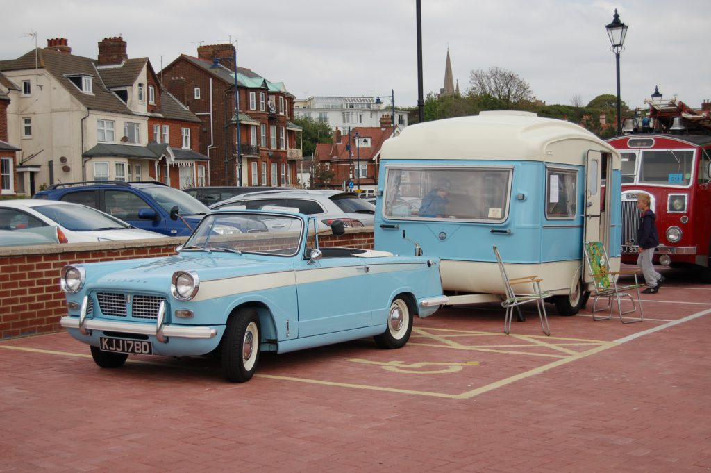 Triumph Herald with Caravan