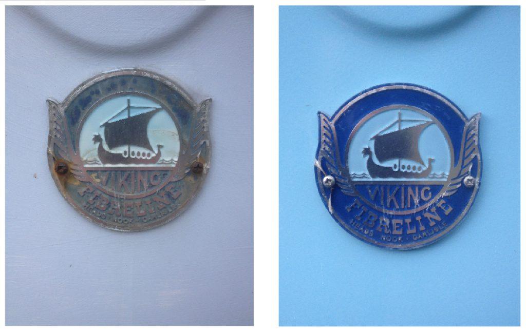 Viking Fibreline badge renovation