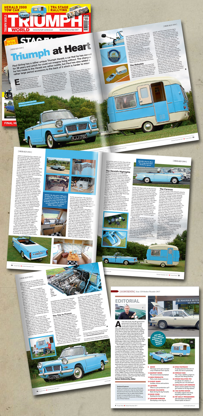 Triumph World article on the Herald 2000 tow car