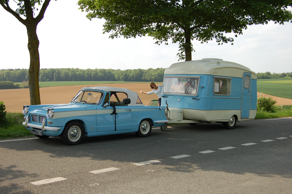 Triumph Herald and Viking Fibreline