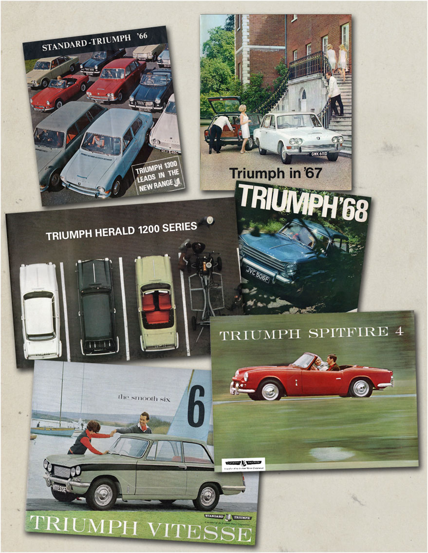 Selection of original 1960s Triumph sales brochures