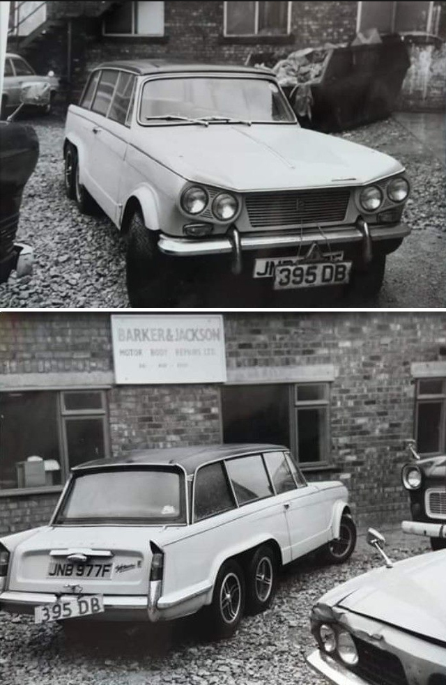 Six wheeled Triumph Vitesse saloon