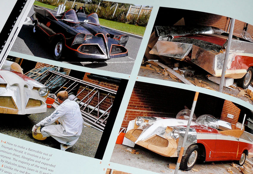 Triumph Herald Batmobile in colour