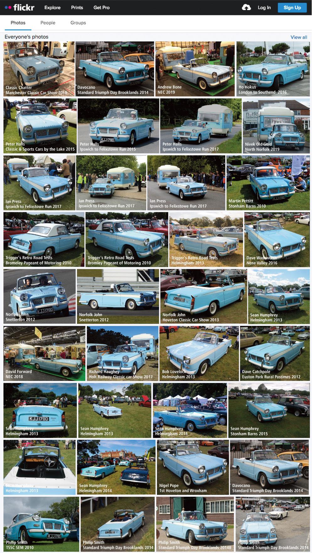 Flickr images of Triumph Herald KJJ 178D