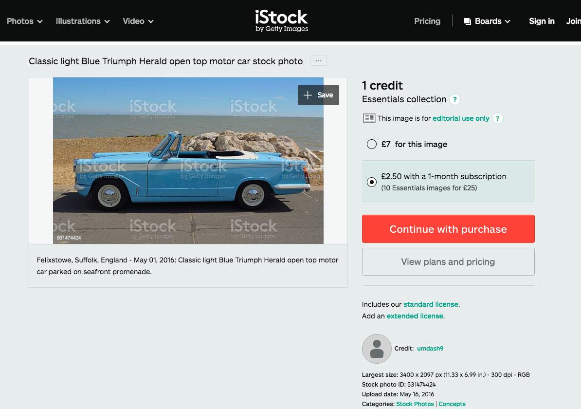 iStock Stock Photo of Triumph Herald