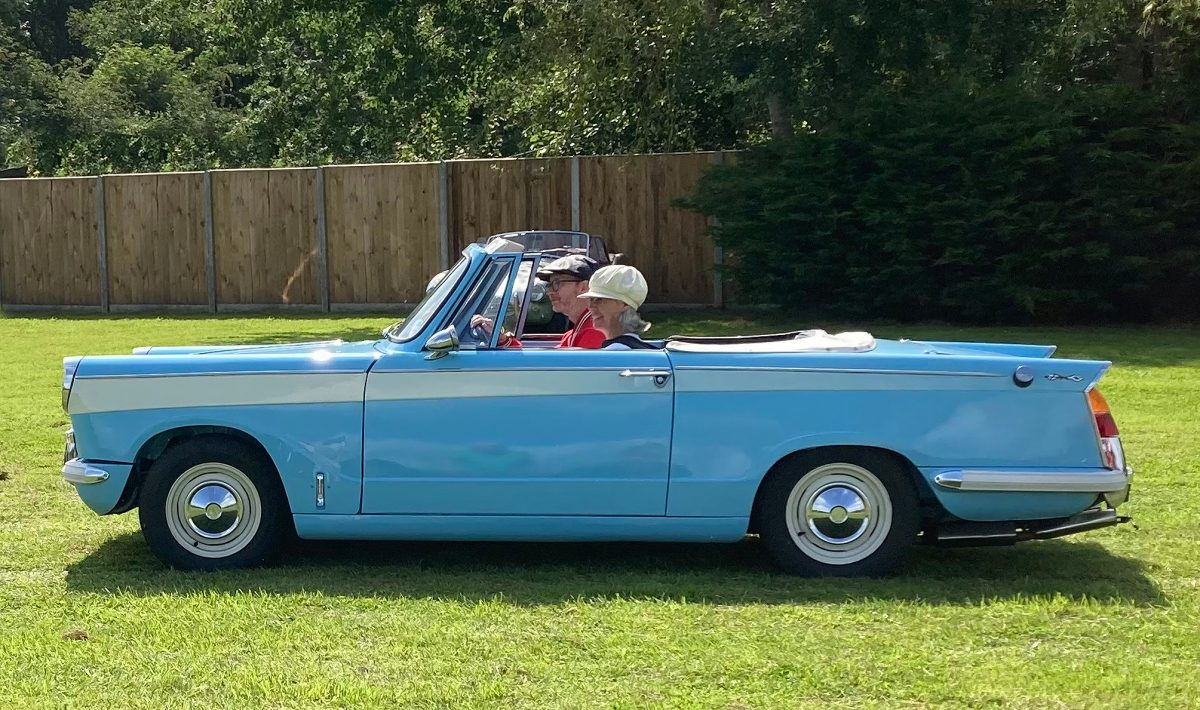 Triumph Herald at the Charles Clark Classic Rally