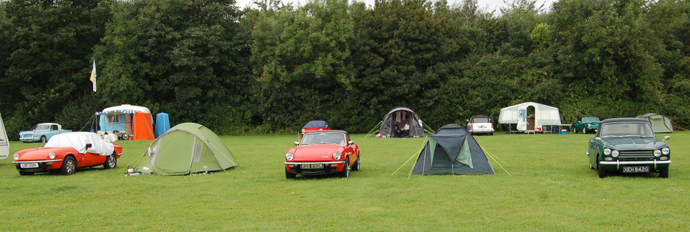 Classic Triumphs camping